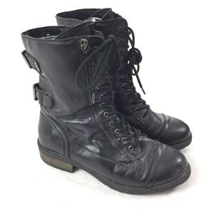 Mossimo | Moto Style Combat Boots Calf Height